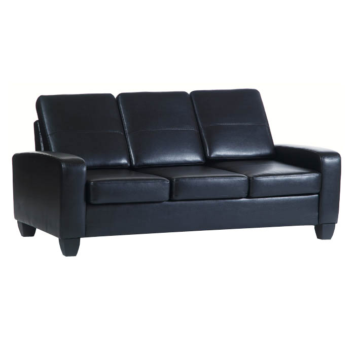 Agretto antique faux leather large sofa for Faux leather sofa seat covers