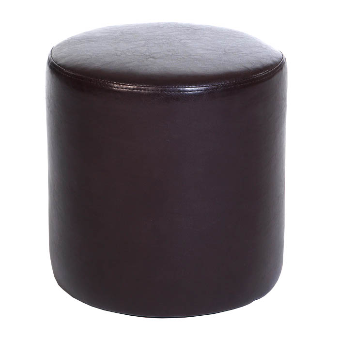 Agretto Faux Leather Round Stool