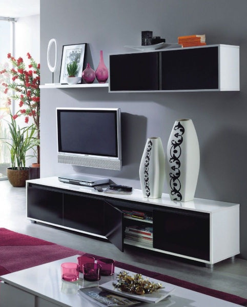 Alida Black and White Gloss TV Cabinet With Wall Unit : alida black and white gloss tv cabinet with wall unit 2479 p <strong>Old</strong> Office Chairs from www.furniturefactor.co.uk size 482 x 599 jpeg 210kB
