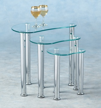 Barminato Glass Nest Of Tables