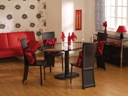 Germain Glass Oval Dining Set