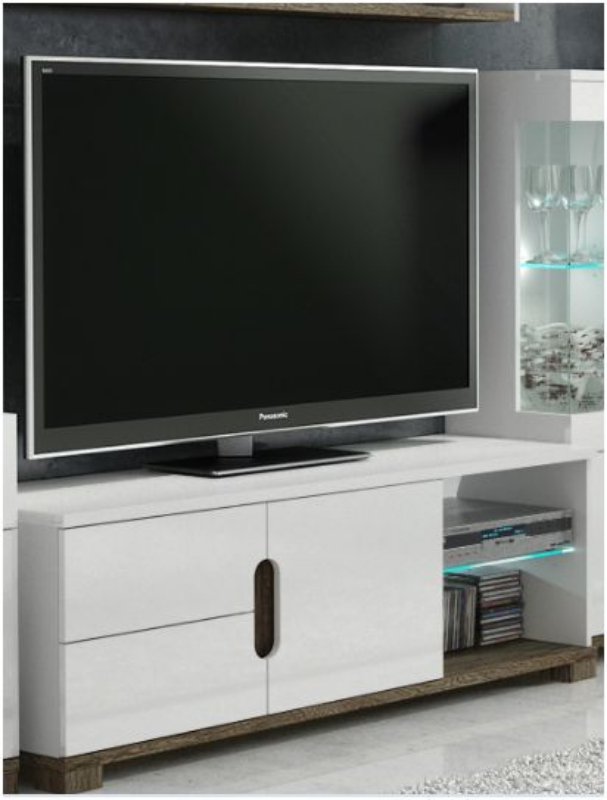 White Gloss Tv Display Unit With Lights Tv Cabinets