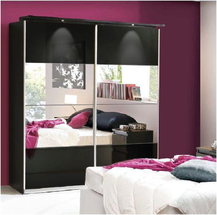 black high gloss sliding wardrobes black gloss wardrobes. Black Bedroom Furniture Sets. Home Design Ideas