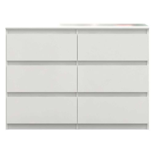 Lucia High White Gloss Wide Chest Of Drawers 110cm CHLK24-C87