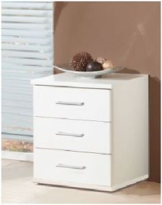 Roma White 3 Drawer Bedside (603317)