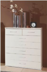 Roma White Chest Of Drawers (603319)