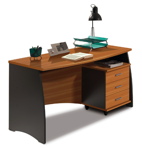 Stillo Walnut And Grey Large Computer Office Desk