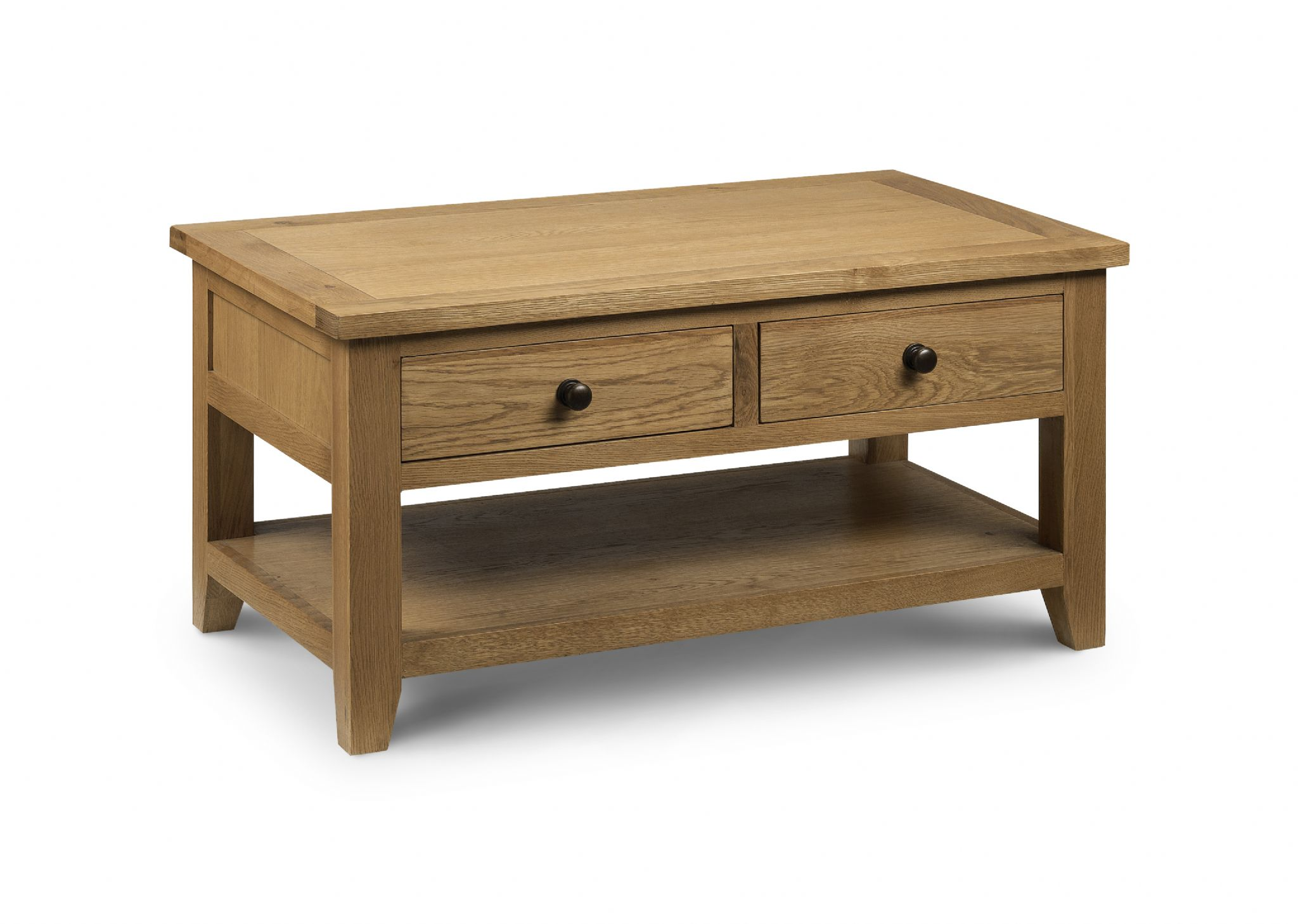 Zaragoza Oak Coffee Table With 2 Drawers Jb50