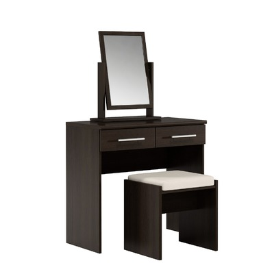 Prague Dressing Table With Mirror And Stool In Espresso