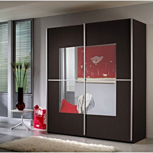Alabama Extra Wide 219cm 2 Door Sliding Wardrobe Wenge
