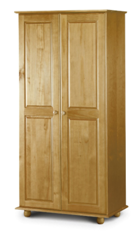 Albacete Solid Pine Finish 2 Door Wardrobe JB391