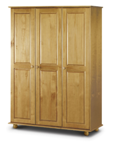 Albacete Solid Pine Finish 3 Door Fitted Wardrobe JB393