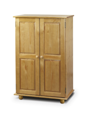 Albacete Solid Pine Finish Short Wardrobe JB408