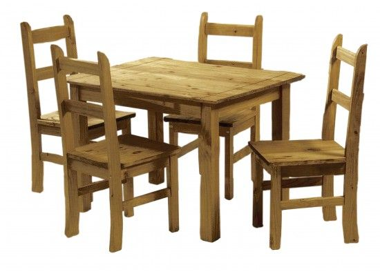 Alencon Solid Pine Dining Set 17LD469
