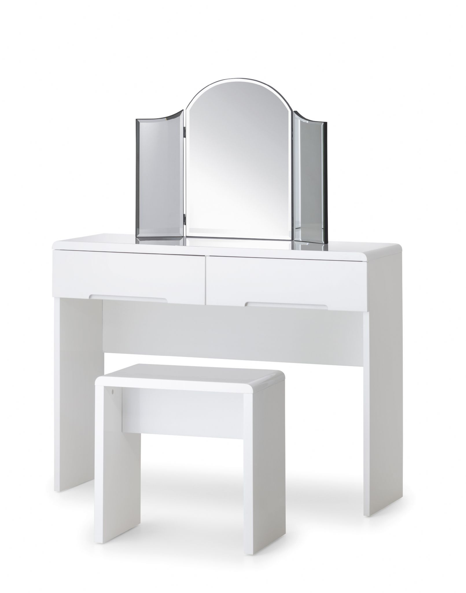 alzira white high gloss dressing table with 2 drawers jb316. Black Bedroom Furniture Sets. Home Design Ideas