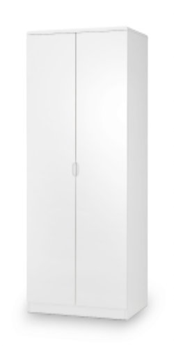 Alzira White High Gloss Lacquer 2 Door Wardrobe JB306