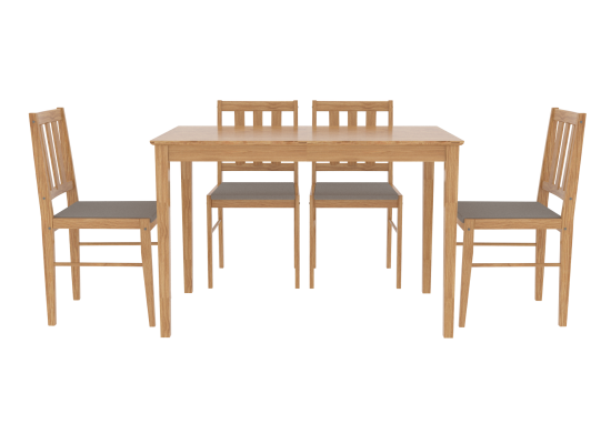 Amand Solid Wood Dining Set 17LD570