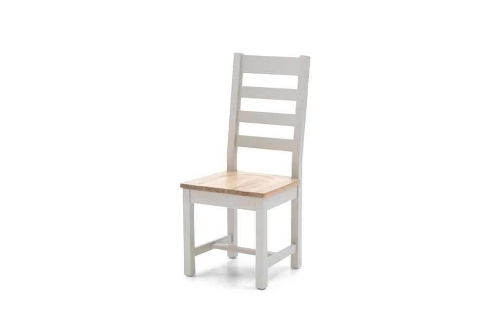 Aquino Two Tone Grey And Oak Ladder Back Dining Chair 218VD428