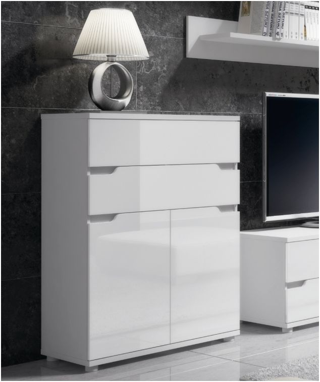 Aspire White Gloss Tall Sideboard Storage Unit P9rxas01
