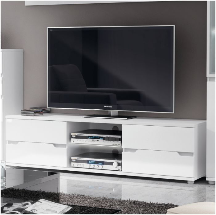 85ce33dc713 Aspire White Gloss TV Media Unit Furniture – Furniture Factor UK