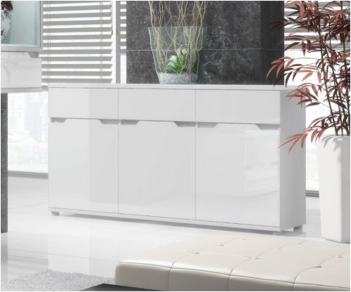 Aspire White Gloss Wide Sideboard Storage Unit (P9RXASK6)
