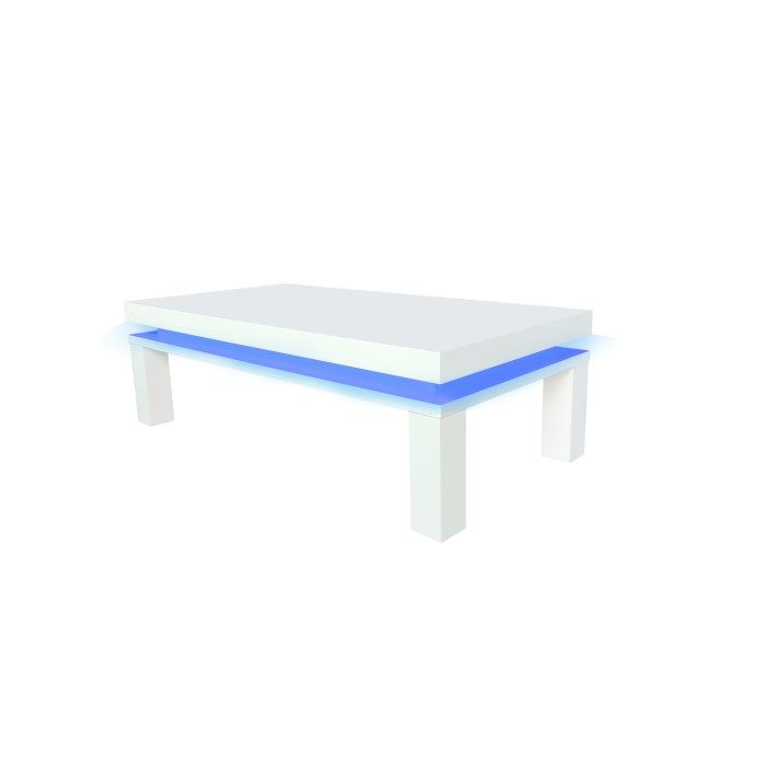 Azay White High Gloss Led Coffee Table 17ld551