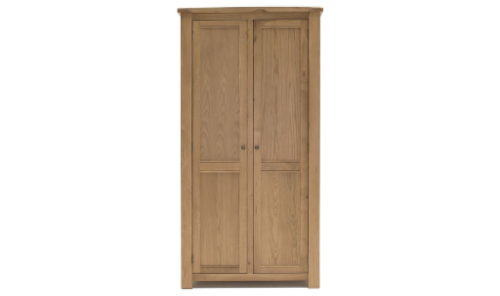 Benevento Natural Oak Veneer 2 Door Wardrobe 18VD171