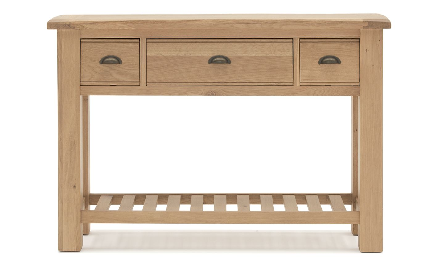 Picture of: Benevento Natural Oak Veneer Console Table 18vd153