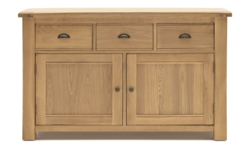 Benevento Natural Oak Veneer Sideboard 18VD150