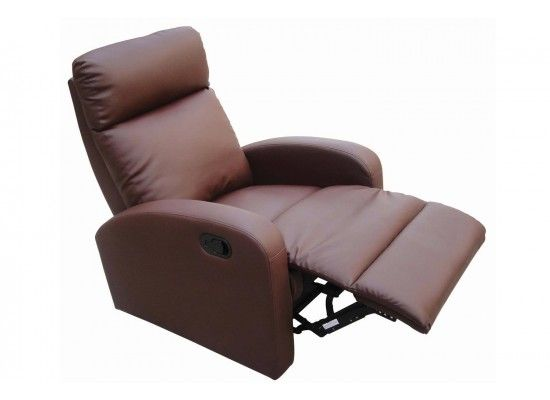 Benoit Brown Faux Leather Recliner 17LD512