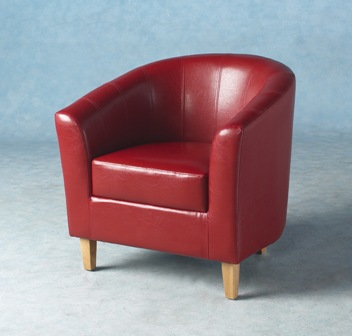Berganza Faux Leather Tub Chair .