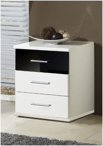 Berlin 3 Drawer Bedside Table (139317)