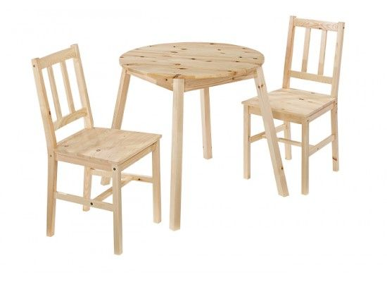 Bethune Light Oak Round Dining Set 17LD476