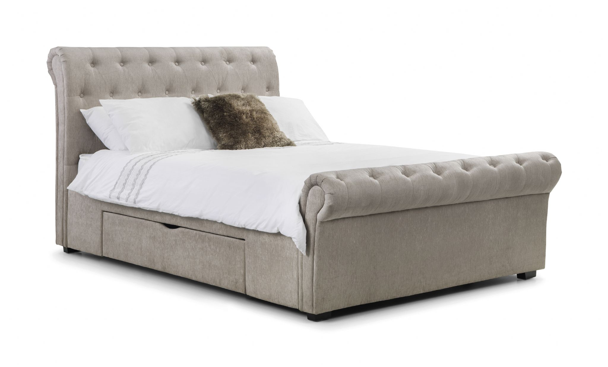 brindisi soft touch mink chenille storage king size bed. Black Bedroom Furniture Sets. Home Design Ideas
