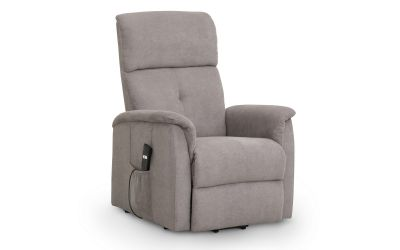 Cangas Taupe Chenille Fabric Rise & Recline Chair 18JB54