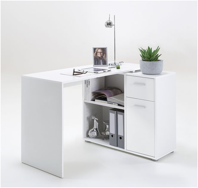 Carla Small L Shaped Corner Computer Desk White