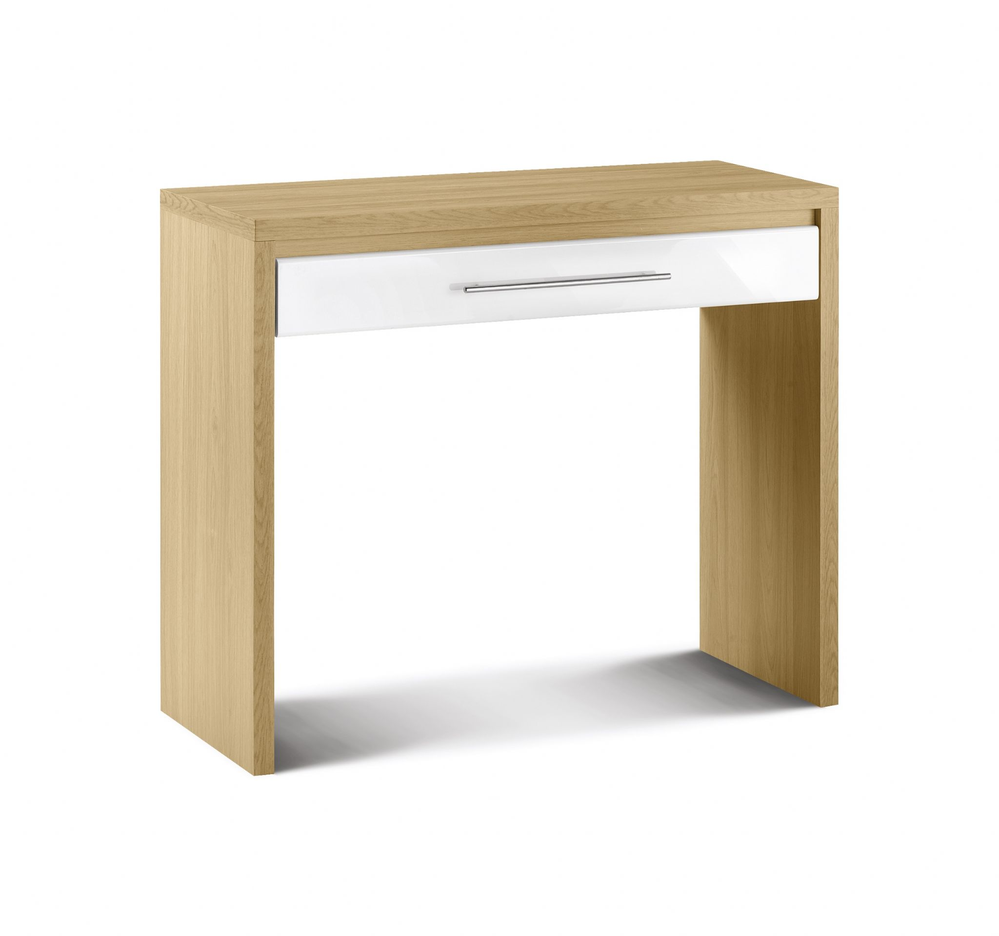 Carrara High Gloss With Light Oak Dressing Table Jb518