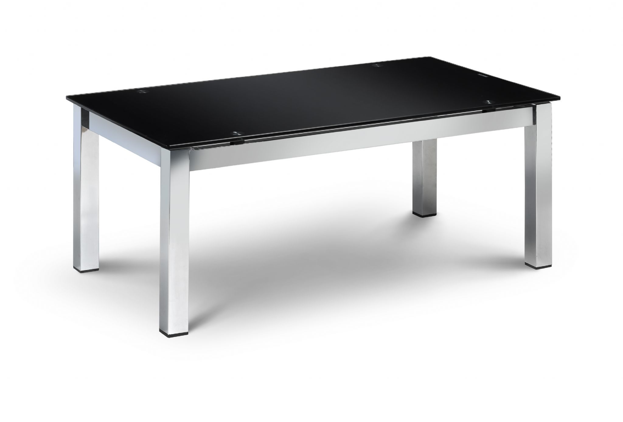 Catanzaro black and chrome coffee table jb542 Black and chrome coffee table