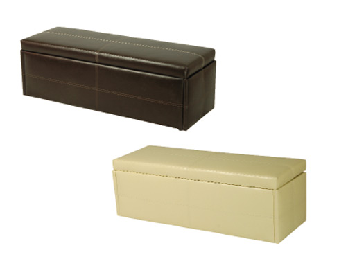 Caulonia Faux Leather Small Ottoman