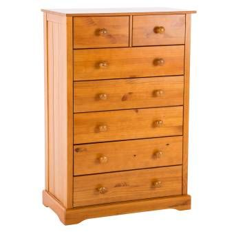 Chambery Antique Pine Finished 5 + 2 Drawer Chest 17LD30