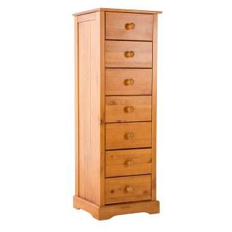 Chambery Antique Pine Finished 7 Drawer Chest 17LD29