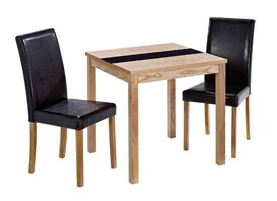 Chenonceaux Oak Finish 2 Chair Dining Set 17LD304