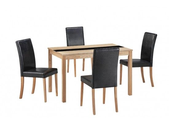 Chenonceaux Oak Finish 4 Chair Dining Set 17LD305