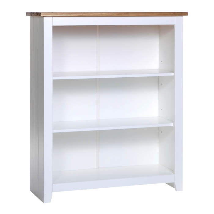 Columbo White Low Bookcase