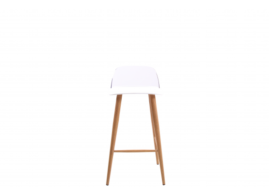 Compiegne White Set of 2 Bar Stools 17LD511