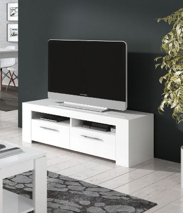 Cubo Artic White TV Cabinet Entertainment Unit