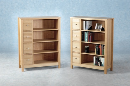 Demanche 4 Drawer Display Bookcase