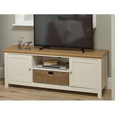 buy online b935c 79389 Dinan Cream And Oak TV Unit 19LD468