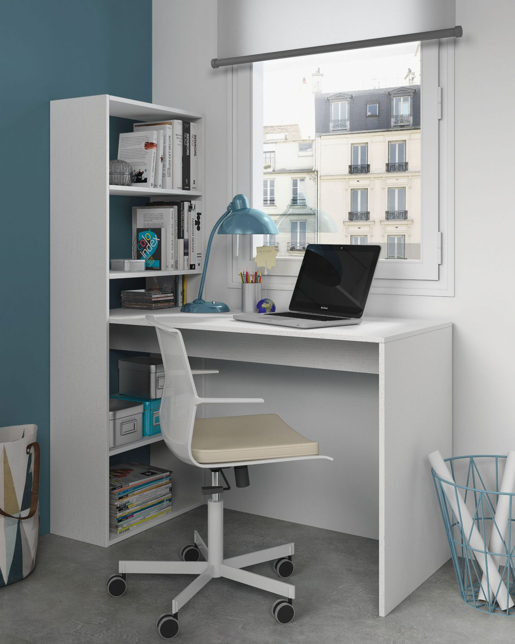 white hutch with computer office floating ikea desk bookshelf superb wall vision most table
