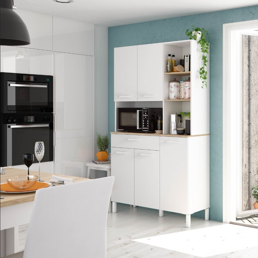Elma Tall Large Utility Room Kitchen, Tall Kitchen Pantry Cabinet Furniture